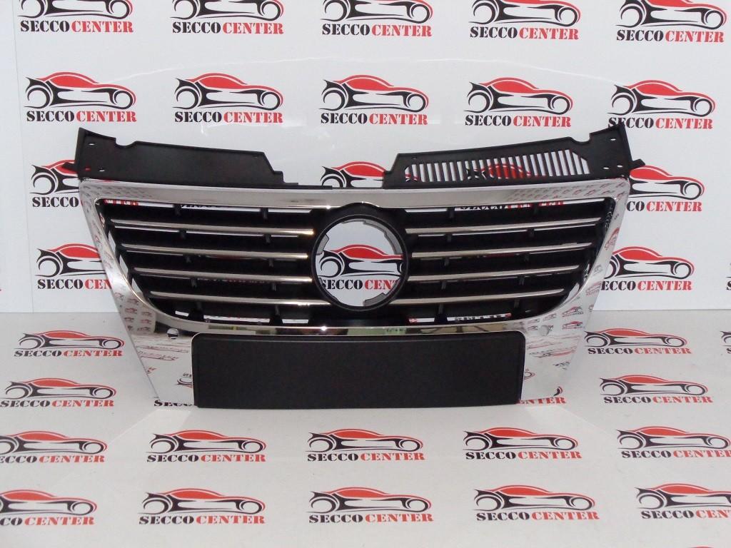 Grila radiator VW Passat B6 2005 2006 2007 2008 2009 2010 cu locas senzori parcare crom